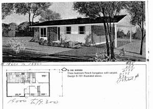 TYpical bungalow layout in the early 50s