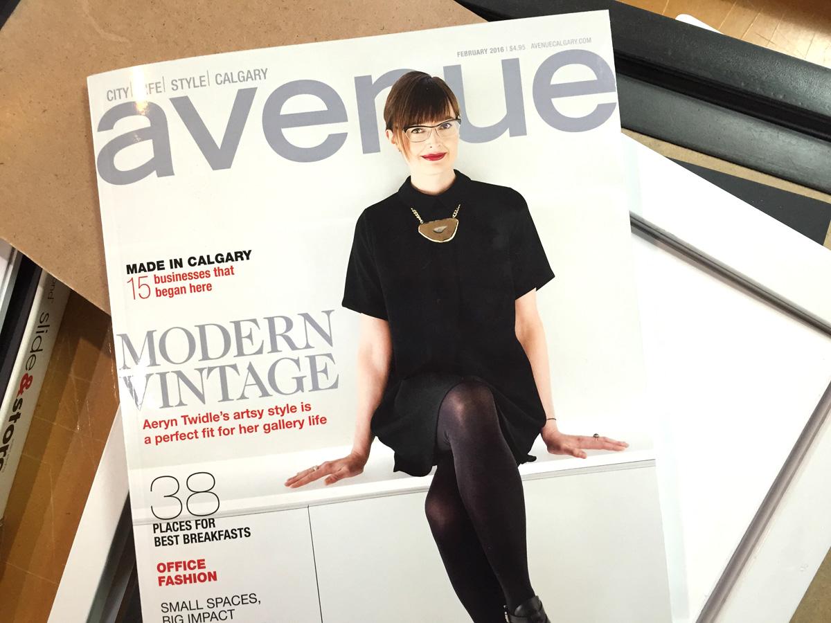 Cover of Avenue magazine Feb 2016