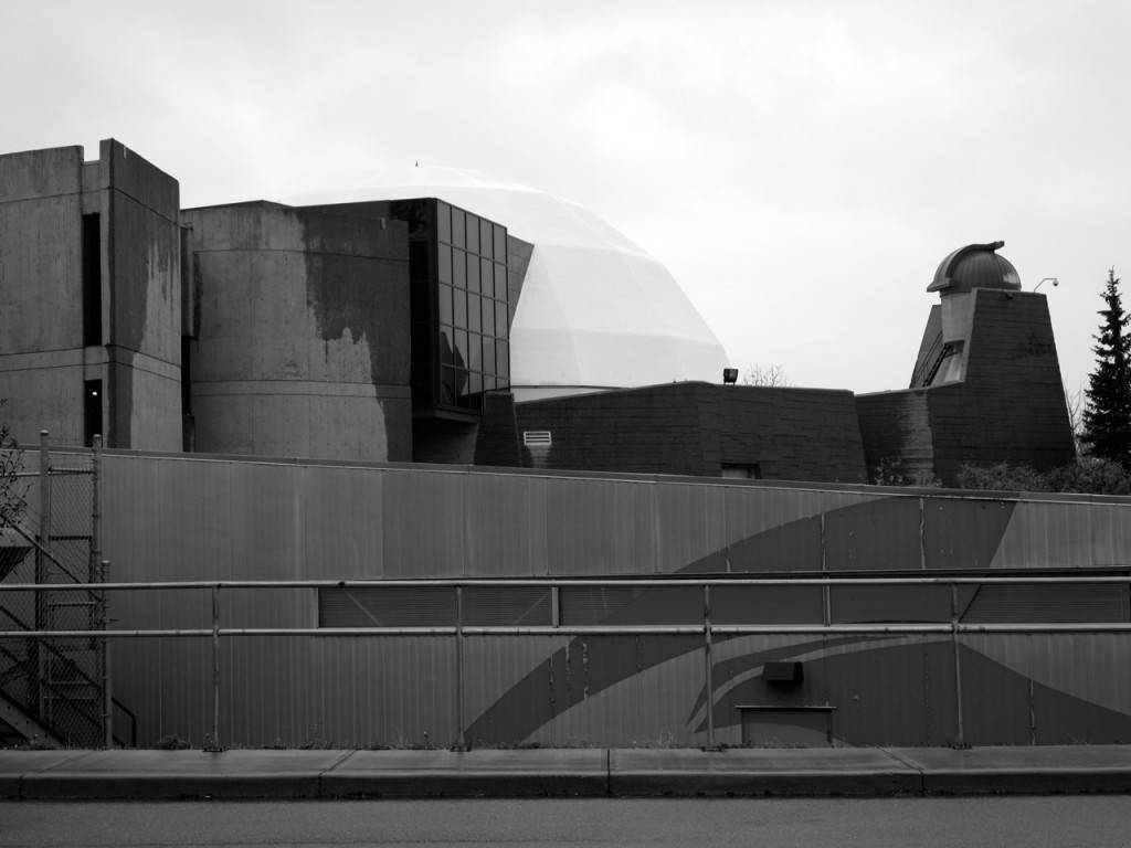 The Calgary Centenial Planetarium, a wonderful Brutalist building that features a variety of examples of way to finish raw concrete.