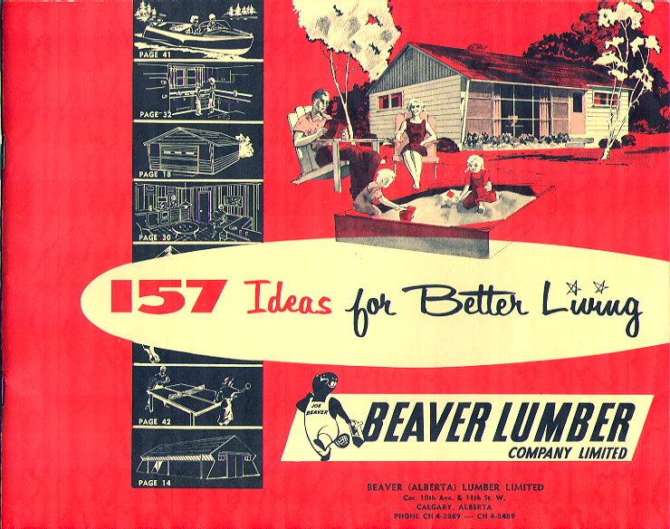 Cover of Beaver Lumber's 157 Ideas for Better Living catalog 195?