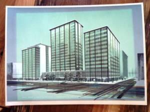 Design illustration of the Elveden Centre. Image © Kathleen Moors