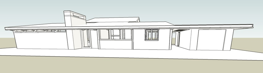 Front elevation of the Trend House