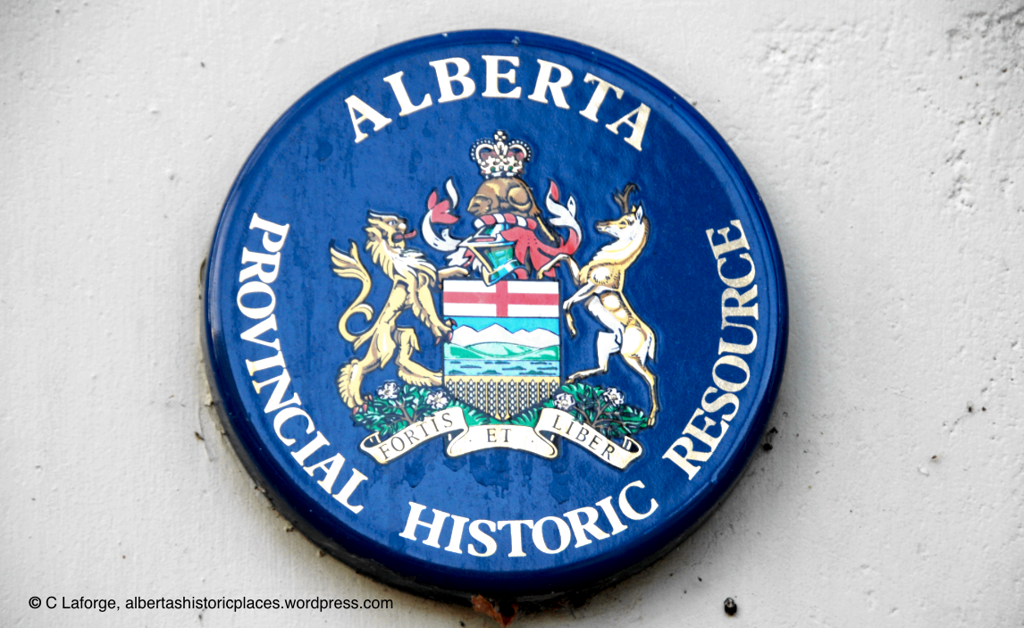Alberta Provincial Historic Resource badge for the Calgary Trend House