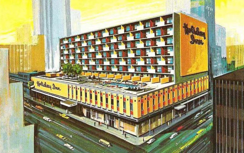 Calgary Holiday Inn rendering designed by Peter Rule
