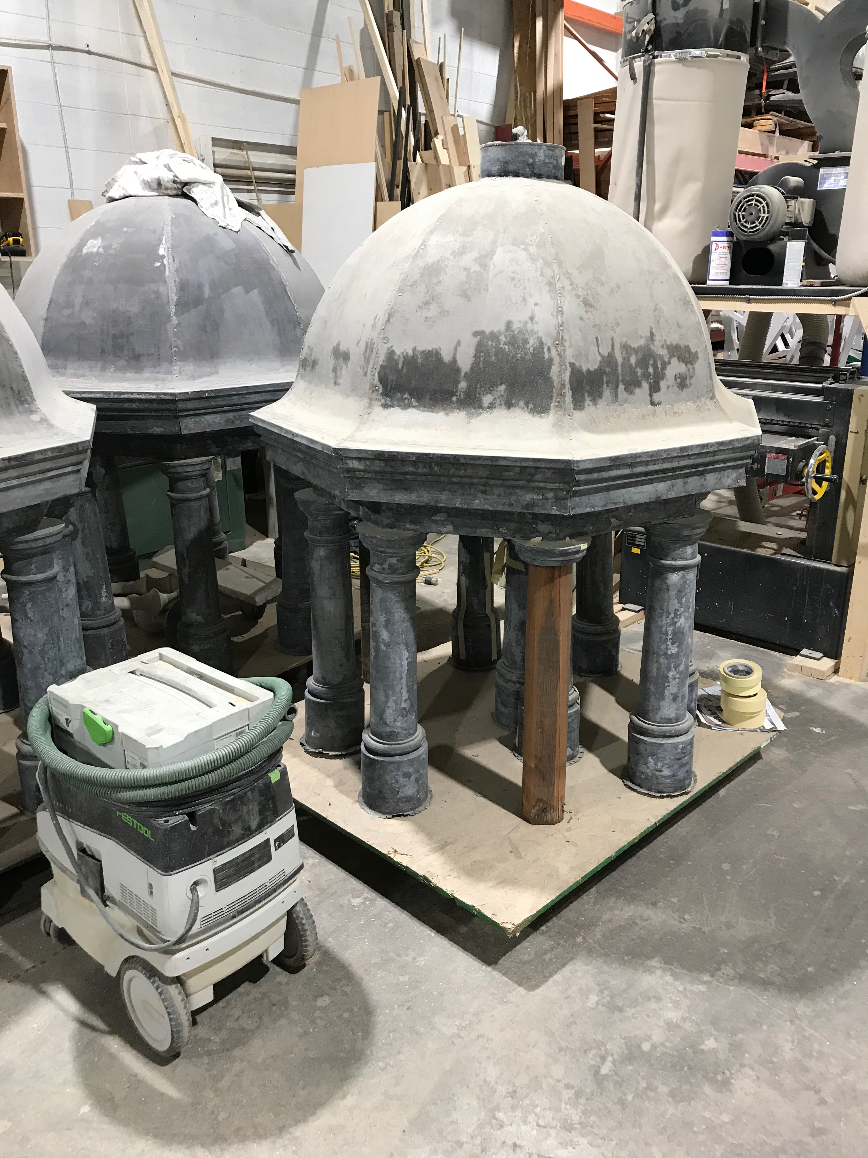 Cupolas undergoing restoration by Dave Chalmers