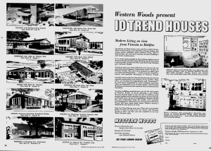Trend House in Ottawa Citizen May 17 1954