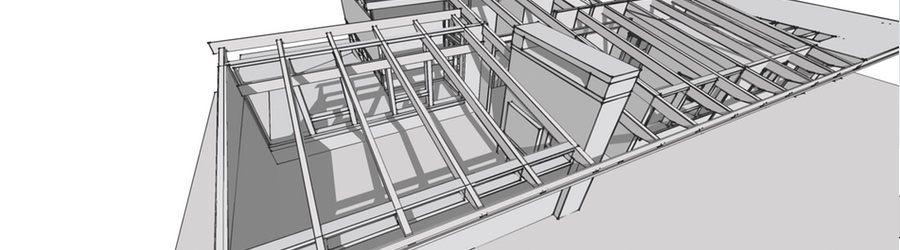 The truss system used in the Calgary Trend House