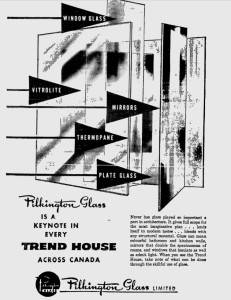 Pilkington Glass Ad for the Calgary Trend House