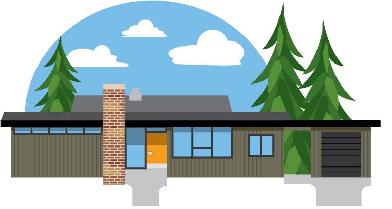 Calgary Trend House Illustration by Michael Kurtz