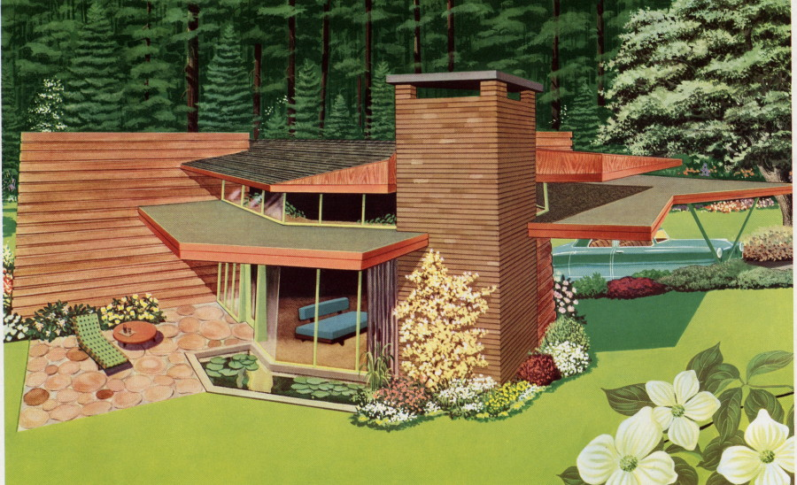 Illustration of the Victoria Trend House designed by Joe DeCastri
