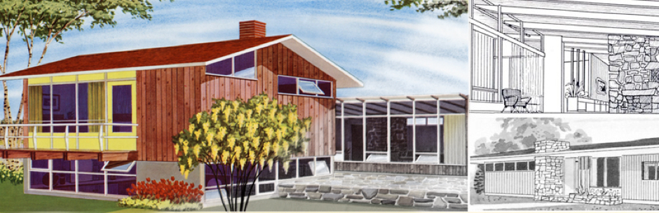 Image showing the original renderings for the Calgary Trend House
