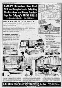 EATONS decorating article, Calgary Herald April 17 1954