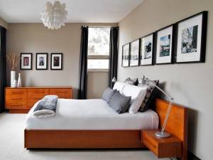 Master bedroom in the Calgary Trend House