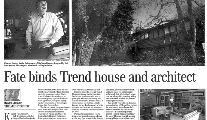 Toronto Trend House Article