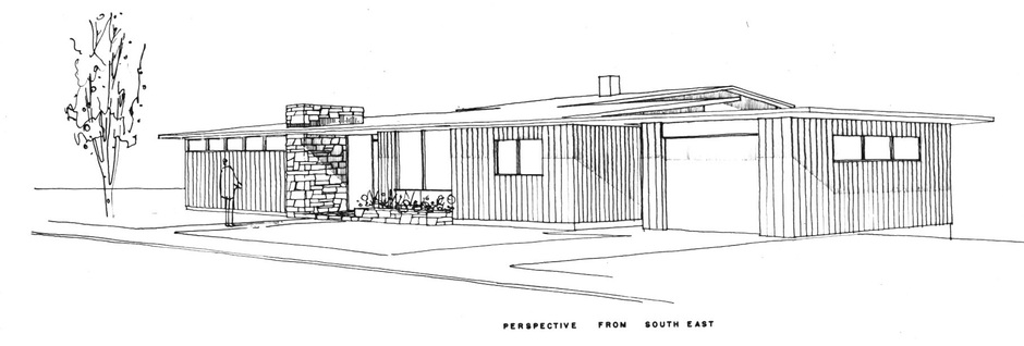 Trend House design sketch by Peter Rule
