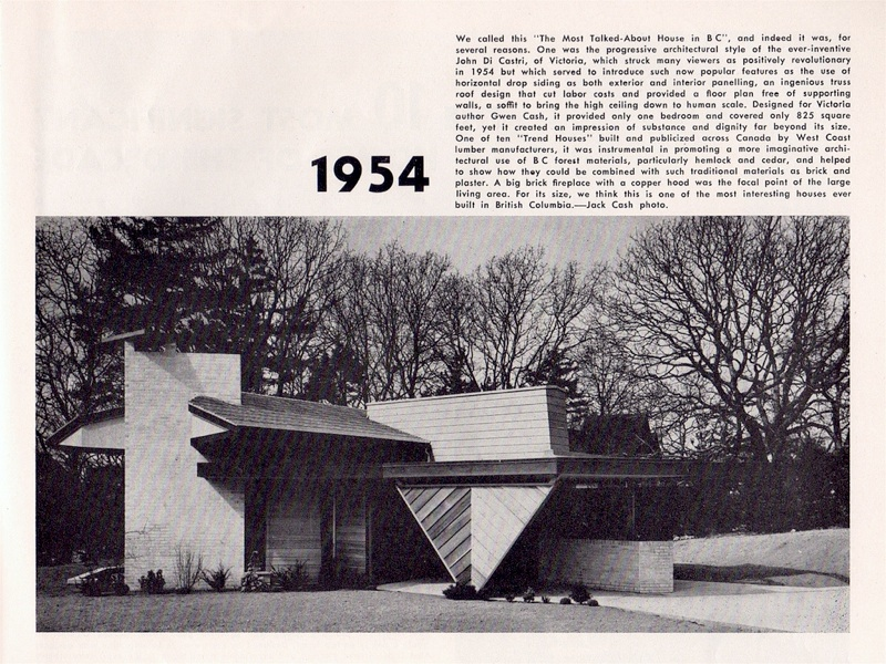 Victoria Trend House 1954